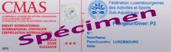 Brevet FLASSA-CMAS (Spécimen)