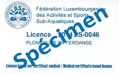 Licence FLASSA (Specimen)