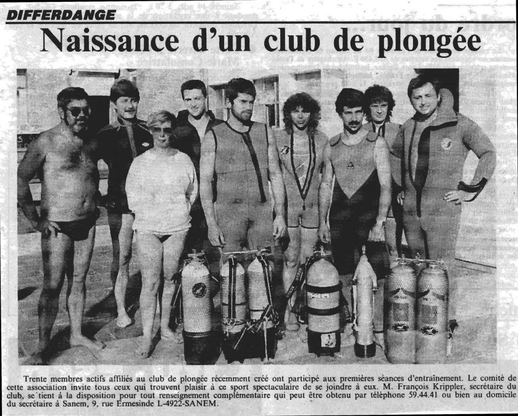 PLD - 1985 Naissance d'un Club